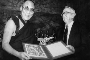His Holiness the Dalai Lama being awarded Nobel Peace Prize (Dec 1989)