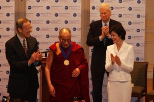 Dalai Lama Honored with NED Democracy Service Medal in 2010